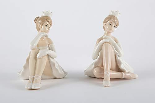 Bomboniere Nascita Battesimo Comunione Ballerina Porcellana 3 Assortiti DGS51242