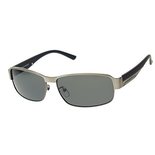 Zacway Polarized Metal Predator Sunglasses for Men UV400 63mm (Gunmetal Frame/Gray Green Lens, - Sunglasses Stark Tony