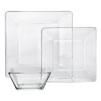 Libbey Tempo Square Glass Dinnerware Set of 12  sc 1 st  m.amazon.com & Amazon.com | Libbey Tempo Square Glass Dinnerware Set of 12: Other ...