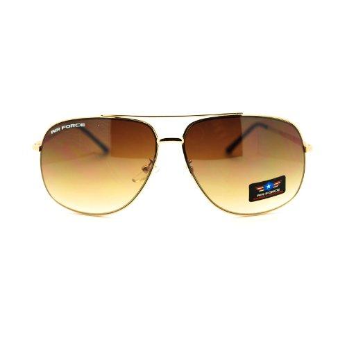 Mens Air Force Luxury Top Gun Pilot Narrow Aviator Sunglasses - Aviator Sunglasses Gun Top