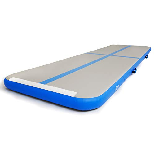 Clevr 9.8' x 3' x 4'' Inflatable Air Track Gymnastics Mat Gym Exercise Tumbling