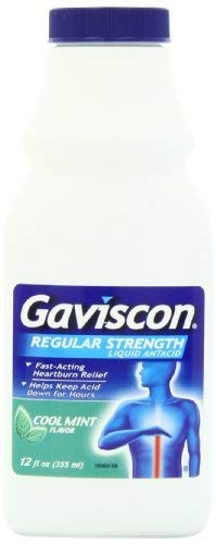 Gaviscon Regular Strength Liquid Antacid, Cool Mint Flavor, 12-Ounce Bottles by Gaviscon