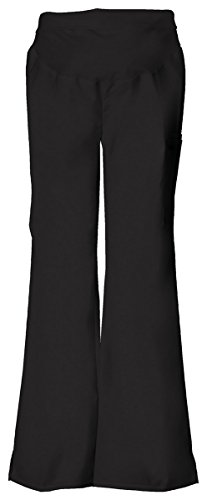 Cherokee Women's Tall Flexibles Maternity Knit Waist Pull-On Pant_Black_sml Tall