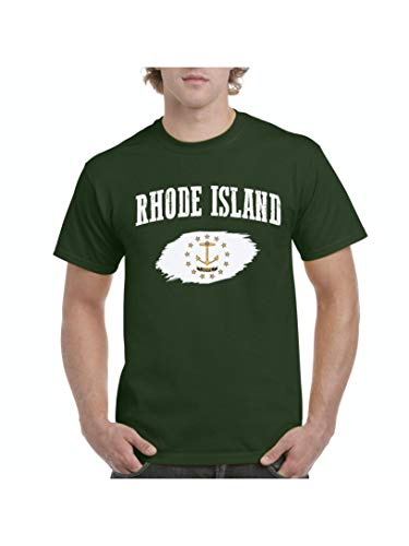 Mom`s Favorite Rhode Island Proud Home Providence Traveler`s Gift Men's Short Sleeve T-Shirt (SMG) Military Green for $<!--$12.48-->