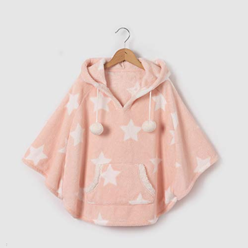 La Redoute Abcd'r Little Girls Fluffy Effect Fleece Hooded Poncho, 2-12 Years Other Size 12 Years - 59 - Cotton Poncho Fleece
