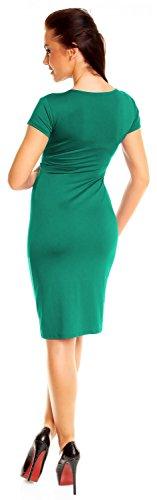 Zeta Ville Mujeres Corto Manga Lápiz Casual Trabajo Oficina Día Vestido 573z Verde Azulado