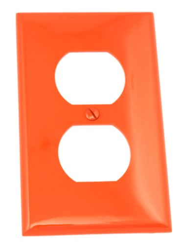 - Leviton 80703-R 1-Gang Duplex Device Receptacle Wallplate, Standard Size, Thermoplastic Nylon, Device Mount, Red