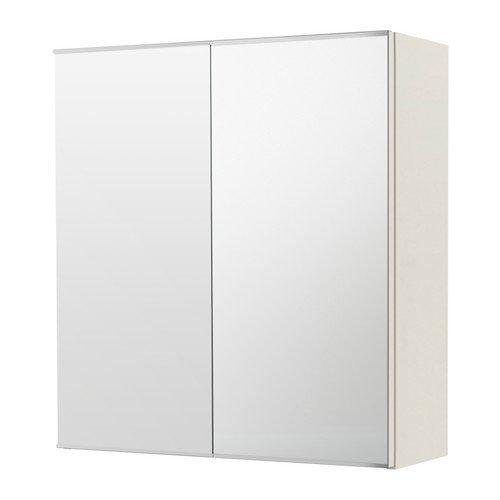 IKEA Mirror Cabinet with 2 Doors, White 23 5/8x8 1/4x25 -