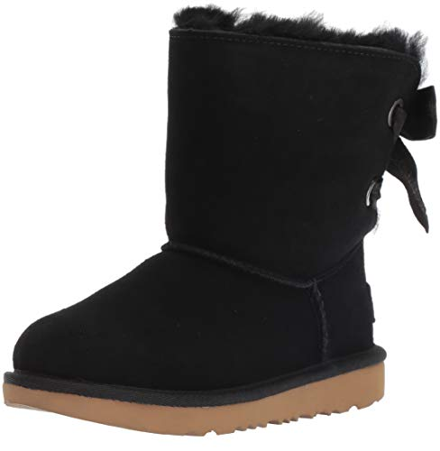 UGG Girls' K Customizable Bailey Bow II Fashion Boot, Black, 6 M US Big Kid]()