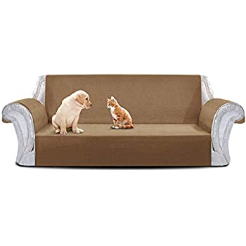 yemyhom 100% non-slip large couch covers anti-leakage oversized sofa  slipcovers 3-cushion couch protectors pet sofa covers dog furniture covers ( sofa xl, ... E4HGNTUR