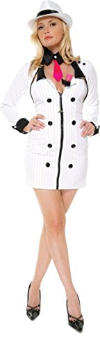 Halloween Costumes Mobster Baby (Morris Costumes Mobster Minx White X)