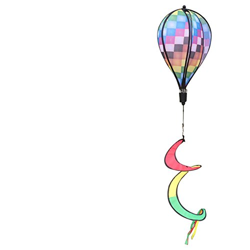 cici store Colorful Hot Air Balloon Wind Spinner Windmill Camping Tent Garden Home Decorations