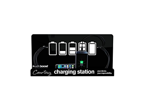 Wall Mount Cell Phone Charging Station by KwikBoost, Multi-Device Charging for up to 8 Devices including iPhone, iPad, Samsung, Tablets, and more. Great for School, Office, Business. and Events. by KwikBoost