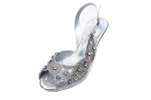 Shoes Evening Ladies Sandals Red Silver Gold Fashion 2218 SAN amp;W Women Silver On Diamante Party Slip W Yz1qF1