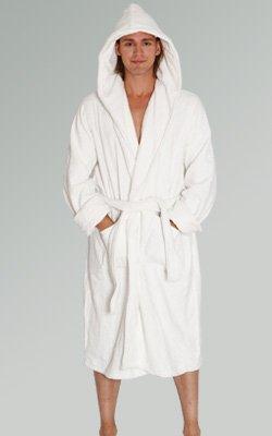 Alexander Del Rossa Mens Turkish Terry Cloth Robe, Thick Hooded Bathrobe