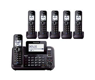 Panasonic KX-TG9552B + (4) KX-TGA950B Link2Cell Bluetooth Enabled 2-Line Phone with Answering Machine (6 Handset) by Panasonic (Image #4)