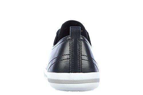 Prada chaussures baskets sneakers homme en cuir nappa blu