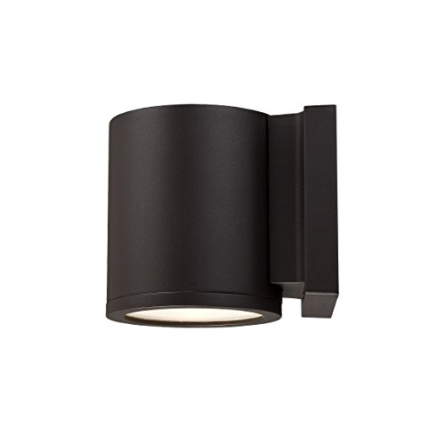 WAC Lighting WS-W2605-BZ Tube LED Outdoor Wall Light Fixture, Dark Sky Friendly Single Light, 3000K, Bronze