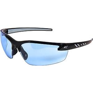 Edge Eyewear Light Blue Safety Glasses, Scratch-Resistant, Half-Frame