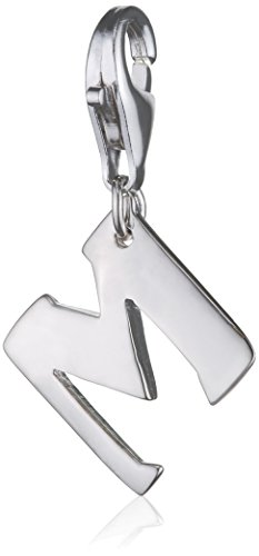 SilberDream 925 Sterling Silber Charm Buchstabe M Silber Anhänger für Armband Kette Ohrring FC70M