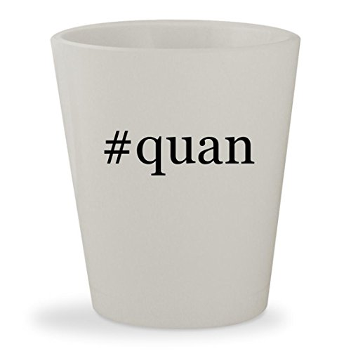 Quan   White Hashtag Ceramic 1 5Oz Shot Glass