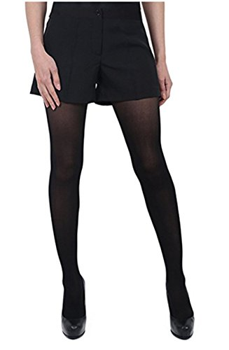 Tuxedo Front Blouse - Henry Segal Women's Pocketless Black Tuxedo Shorts with Satin Side Stripe, Size 4