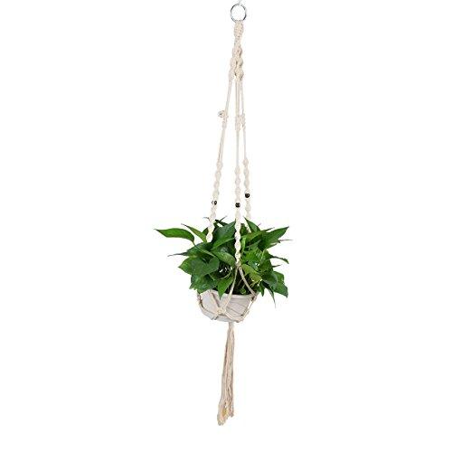 Newcomdigi Makramee Pflanzenhalter Makramee Hänger aus Juteschnur Blumenhänger Pflanzhänger Topfhänger Blumentopfhänger (Blumentopf ist nicht enthalten)