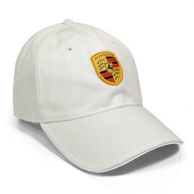 Porsche Crest Logo White Baseball Cap (Paramount Baseball)