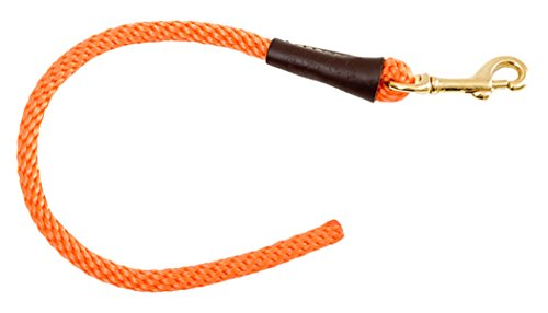Mendota Pet Training Tab Dog Lead, Orange, 3/8 x 16-Inch
