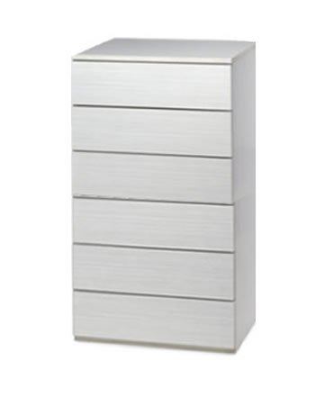 Cajonera para armario en 6 cajones Montada, dimensiones (100 ancho x 50 fondo x 106,5 de altura), color Haya C