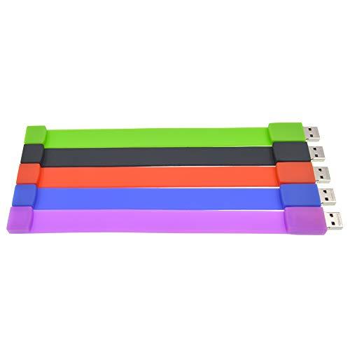(Memory Stick 1GB Bulk Pack of 5 Thumb Drives - USB2.0 Flash Drive 1GB for Computers - FEBNISCTE Multipack Bracelet Jump Drive Mixed Colors Pendrive)