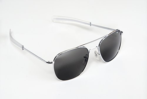 147cf5fa33b AO Eyewear American Optical - Original Pilot Aviator Sunglasses with  Bayonet Temple and Silver Frame