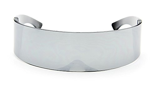 Futuristic Shield Sunglasses Monoblock Cyclops 100% UV400 Full Mirror -