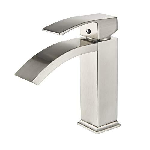 Rozin Single Hole Deck Mounted Bathroom Basin Faucet Vanity Sink Mixing Tap Brushed Nickel