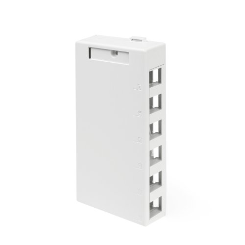 - Leviton 41089-6WP QuickPort Surface Mount Housing, 6-Port, White