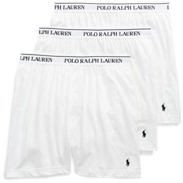 Polo Ralph Lauren Men's 3-Pack Knit Boxer White ()
