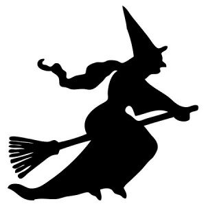 happy halloween flying witch decal sticker vinyl car home truck window laptop