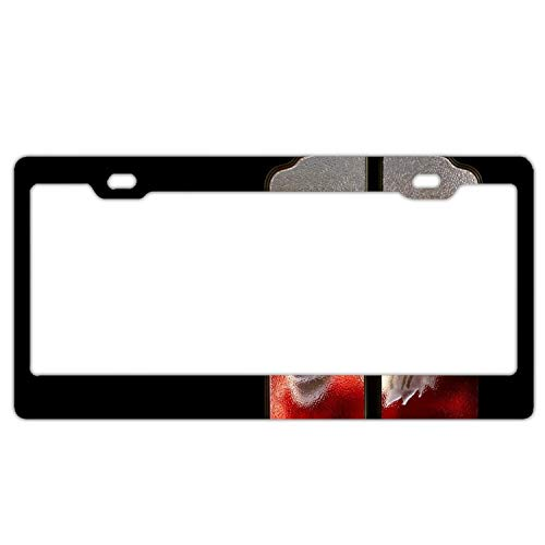 KSLIDS Alumina Holiday Christmas Santa License Plate Frame -
