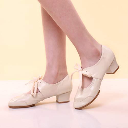 Rumba Talons Femmes Femme Sandales Danse Ballet Weant Latin Ballroom Ete Escarpins Singles Bal Chaussures Beige Dames Valse wRxnxzqXT