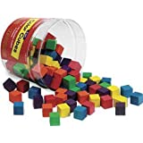Wooden Color Cubes, 1-inch