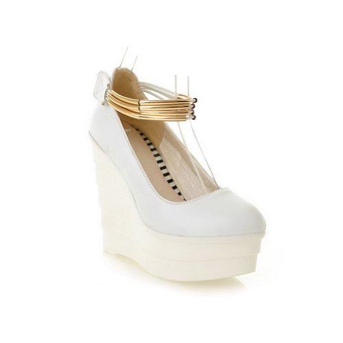 Balamasa Pour Femme, Avec Œillet Et Chaussures À Talons Hauts À Talons Aiguilles, Blanc (blanc), 35