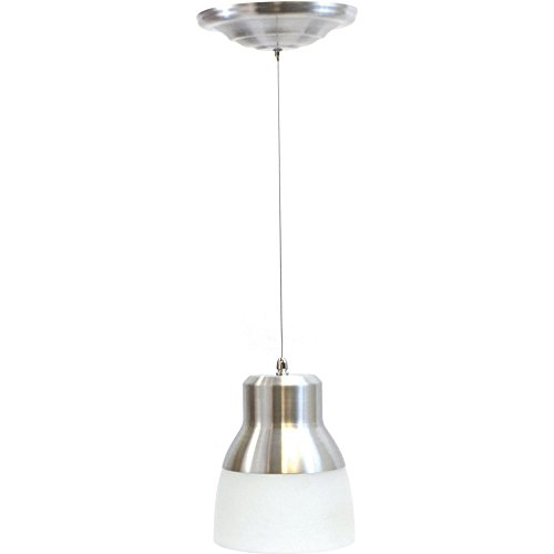 It's Exciting Lighting IEL-5778 Glass Pendant Nickel IR LED