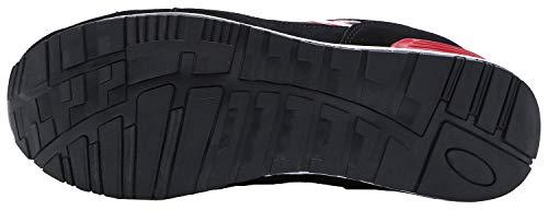 Damen Sportlich Ultraleicht LARNMERN Sicherheitsschuhe Stahlkappe Arbeitsschuhe 30 Atmungsaktiv LM Rot q7xa8P5