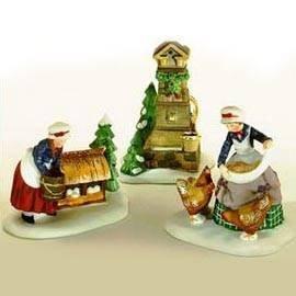 Dickens Village Series Set - Department 56 The 12 Days of Dickens' Village Series: Three French Hens, Set of 3