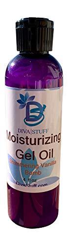 (New! Shimmering Vanilla Da Bomb Scent Body Gel-Oil, Nourishing Oils in a Gel Like Formula, Diva Stuff)