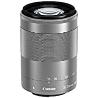 Canon EF-M 55-200mm f/4.5-6.3 Image Stabilization STM Zoom Lens (Silver)