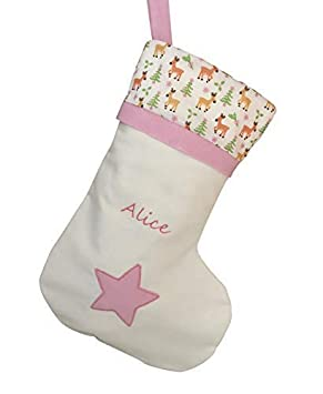 94e4a6961 Juliet Rose Gifts ALPHABET BARN Personalised WHITE STAR REINDEER Christmas  Stocking