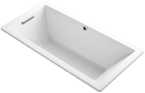 Best Review Of KOHLER K-1821-0 Underscore 66-Inch x 32-Inch Drop-In Bath with Reversible Drain, Whit...