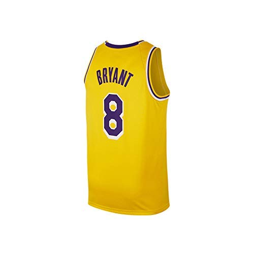 newest 3c9e1 5d27e Gumfor Mens Kobe Jersey 8 Basketball Los Angeles Adult Bryant Yellow  (Yellow, Small)