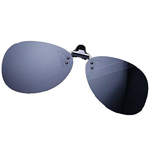 Conducir Up Sol para Color Gafas de Clip Sunglasses Pesca Verde plástico de Flip Gris Aviador Lentes polarizadas Lentes en LVZAIXI cIqzZ